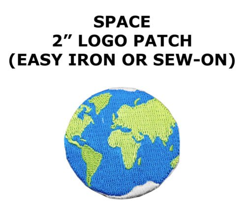 #5108 2-3/8'', World Planet Earth Embroidery Iron On Applique Patch by I.E.Y.online-store (Planet Patches Earth)