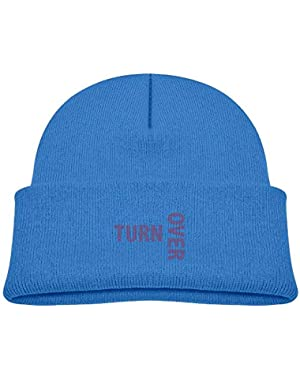 Funny Turn Over Printed Baby Girl Boys Winter Hat Beanie