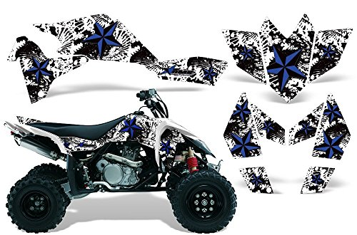 2006-2009 Suzuki LTR 450 AMRRACING ATV Graphics Decal Kit:North Star-Black-White ()