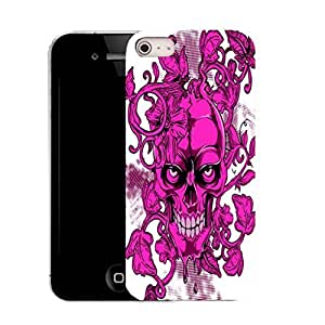 New Hard Printed Pattern case for iPhone 5S pink skull vine by ruishername