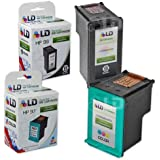 LD © Remanufactured Replacement Ink Cartridges for Hewlett Packard (HP) C8767WN (HP 96) Black and C9363WN (HP 97) Color (1 Black and 1 Color)