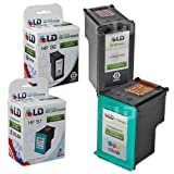 LD © Remanufactured Hewlett Packard (HP) C8767WN (96) and C9363WN (97) Set of 2 Ink Cartridges: Includes 1 Black and 1 Color Cartridge, Office Central