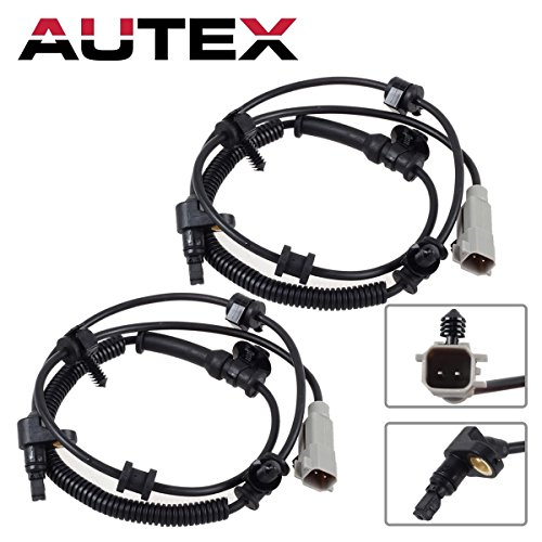 AUTEX 2PCS ABS Wheel Speed Sensor Front Left & Right ALS2113 compatible with 2006 2007 08 2009 2010 Jeep Commander 3.7L 4.7L 5.7L/2005 2006 2007 08 09 10 Jeep Grand (Grand Cherokee Speed Sensor)