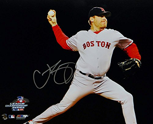Curt Schilling Autographed Boston Red Sox 16x20 Horizontal Pitching Photo- JSA W Auth Hand Signed Pitching 16x20 Photograph
