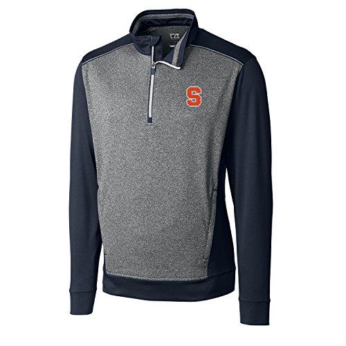 - Cutter & Buck NCAA Syracuse Orange Adult Men CB Drytec Replay Half Zip, 3X-Large, Liberty Navy