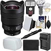 Sony Alpha E-Mount FE 12-24mm f/4.0 G Ultra Wide-Angle Zoom Lens with Flash + Soft Box + Battery & Charger Kit