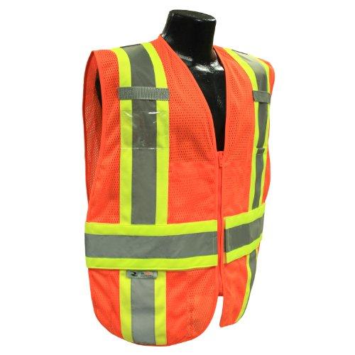 Tone Safety Vest Expandable Two - Radians SV23-2ZOM-XL/2X Polyester Mesh Class-2 Expandable Two Tone Vest