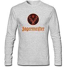 MAT Q VO Men's Jagermeister Logo Long Sleeve T Shirts/Tee