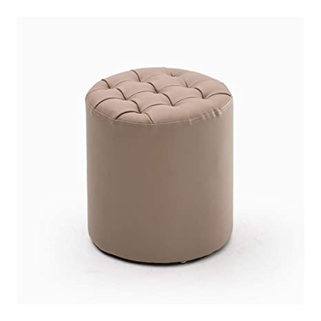 Excellent Amazon Com Mji Footstool Footrest Ottoman Pouffe Round Bralicious Painted Fabric Chair Ideas Braliciousco