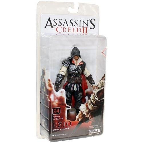Ubisoft NECA Assassins Creed 2 Series 1 Action Figure Black Ezio Black Cloak]()