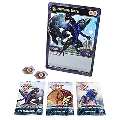 Bakugan, Deluxe Battle Brawlers Card Collection with Jumbo Foil Nillious Ultra Card, for Ages 6 and Up: Toys & Games