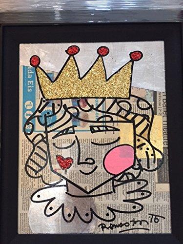 "Romero Britto ""Little Prince"" Signed Original Painting"