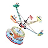 Rotating Spacecraft Model Tin Collectibles Toy Gift for Adult