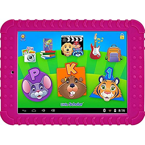 School Zone Little Scholar Learning Tablet. Over 200 Pre-Loaded Learning apps- Pink Coupons