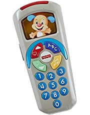 Fisher-Price Laugh & Learn Puppy's Remote With Light-up Screen, Pushbuttons and 35+ Sing-along Songs, Tunes & Phrases, Baby will Love Using This Toy Remote - English Edition
