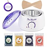 Cheap Wax Warmer Hair Removal Kit Electric Wax Melter Hot Wax Warmer Brazilian Wax Kit with 4 Different Flavors Wax Beans and 10 Wax Applicator Sticks for Women and Men