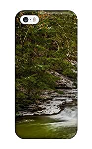 Rugged Skin Case Cover For Iphone 5/5s- Eco-friendly Packaging(stream) Kimberly Kurzendoerfer