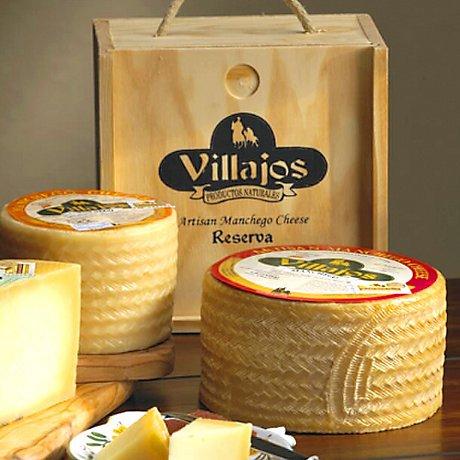 Villajos 'Reserva' Manchego Cheese in Wooden Box - 4 Pounds by La Tienda