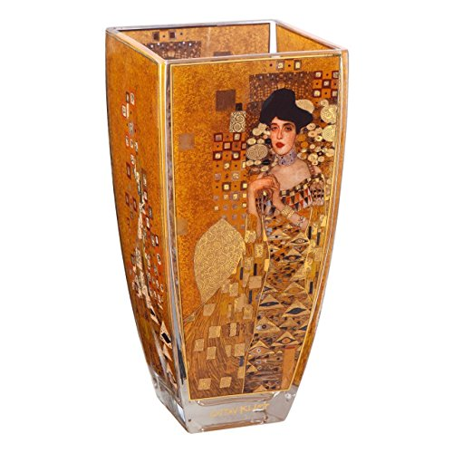 Gustav Klimt Adele Glass 23cm Vase By Goebel