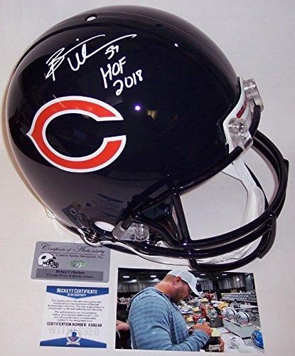 Pro Line Authentic Football Helmet - Brian Urlacher Autographed Hand Signed Chicago Bears Full Size Authentic Pro Football Helmet - with Hall of Fame 2018 inscription - BAS Beckett
