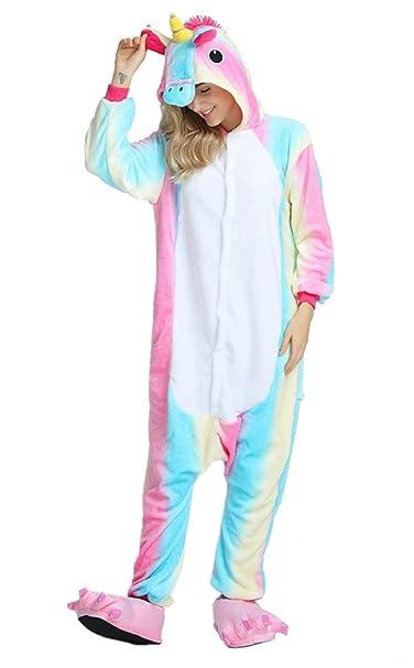 heekpek Pijama Animal Unicornio Entero Unisex para Adultos ...