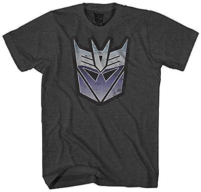 Transformers Men's Stressed Decepticon Short Sleeve T-Shirt