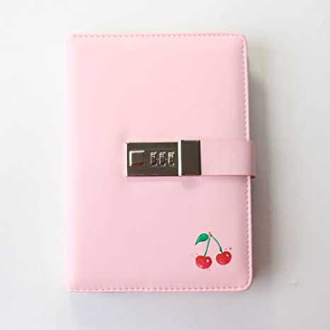 Undated Hardcover Leather Agenda Planner Organizer With Passwords Lock,Colored Fruit Pattern Weekly Monthly Planner Composition Journal Notebook ...