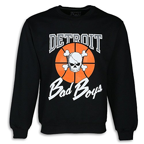 Detroit Pistons Bad Boys Crewneck Sweatshirt, Black, Large ()