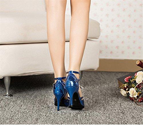 36 Bleu De Danse Femmes Carré Chaussures L'amitié À Latine Color Adultes Été Fond Sandales Taille Talons Tmkoo Hauts Violet amp; Doux qHpHB