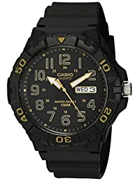 Casio Men's 'Diver Style' Quartz Resin Casual Watch, Color: Black (Model: MRW210H-1A2V)