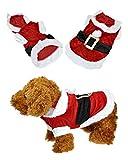 Yoption Pet Puppy Dog Christmas Clothes Santa Claus Costume Outwear Coat Apparel Hoodie (L) by Smartbargain