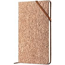 CLEARANCE SALE!!! EcoFriendlyCorkNotebook-PremiumThickPaperA5ClassicWritingNotebook,HardCover,Plain,Large,5x8