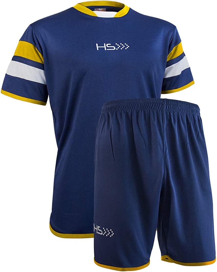 Football Kit FAIR Play Short Sleeve Jersey and Shorts for Men and Women HS