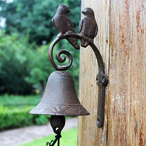 [해외]YAXIAO American Country Vintage Wrought Iron Love Bird Doorbell Cast Iron Bell Handmade Garden Front Doorbell 9.5x15x23cm Vintage doorbell / YAXIAO American Country Vintage Wrought Iron Love Bird Doorbell Cast Iron Bell Handmade Ga...