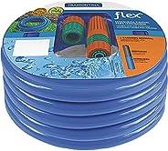 Mangueira flexível para jardim 10 m com engates e esguicho azul - Flex - Tramontina
