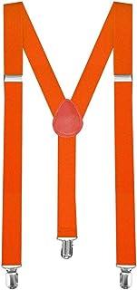 Y-back bretella bretelle regolabili Pantaloni Bambino Uomo Donna completamente elastico arancio