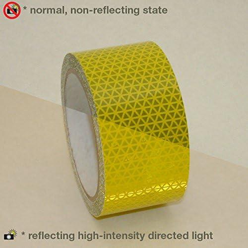 "NEON Flourescent  ORANGE  Reflective   Conspicuity Tape 1/"" x 50 ft lined"