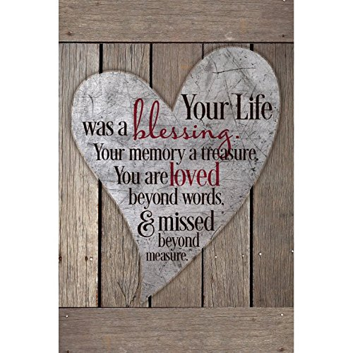 (Dexsa Your Life was A Blessing.New Horizons Wood Plaque)