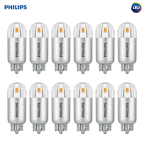 Philips LED 463448 7 Watt Equivalent Soft White T5 Wedge Capsule, 12 Pack, 7W, Bright Piece