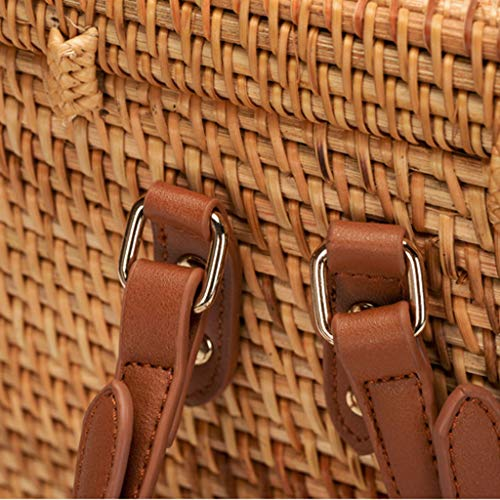 Women's Bag, Fashion Bag - Summer Women's Bag - Hand-Woven Rattan Bag - Crossbody Beach Bag by BHM (Image #5)
