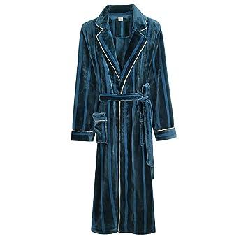 Albornoz Nan Liang Camisón de Pareja de Invierno, señoras sensuales Largos Gruesos, Pijamas de
