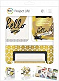 American Crafts Becky Higgs Project Life New Be Fearless Kit Cludes Gold Foil (12 Pack)