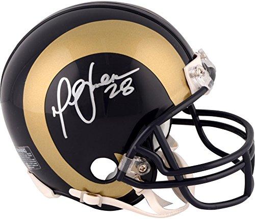 Marshall Faulk St. Louis Rams Autographed Blue Mini Helmet - Fanatics Authentic Certified - Autographed NFL Mini Helmets