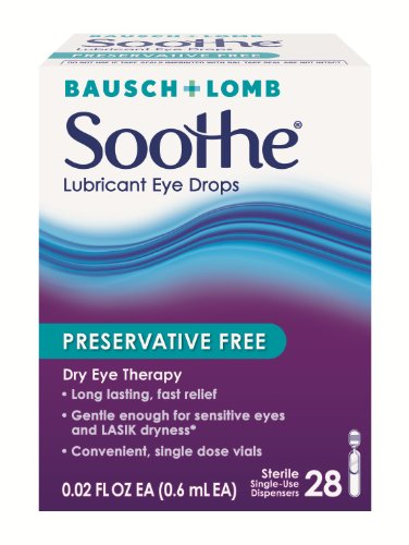 Bausch & Lomb Soothe Lubricant Eye Drops, 28-Count Single Use Dispensers (Pack of 2) ()