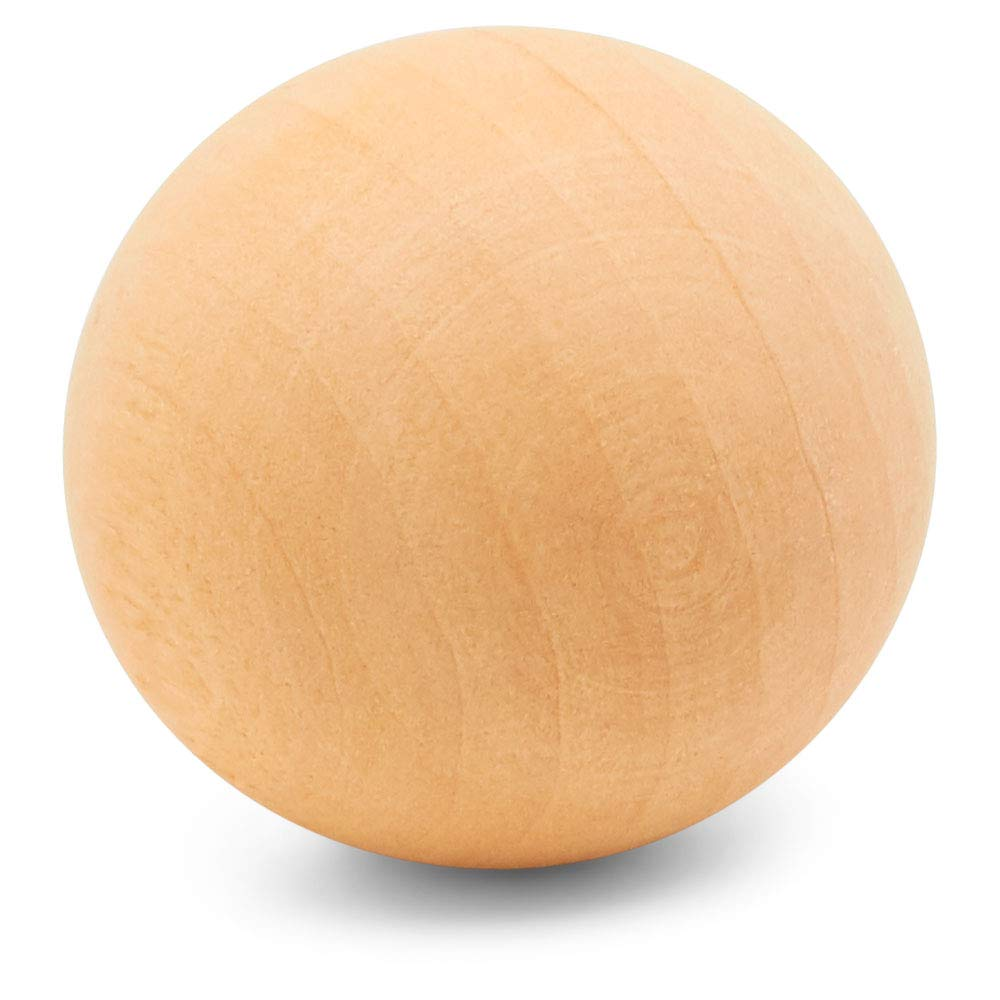 2 Inch Wooden Round Ball, Bag of 50 Unfinished Natural Round Harwood Balls, Smooth Birch Balls, for Crafts and DIY Projects (Diameter 2 Inch) by Woodpeckers