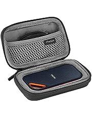 ProCase Hard Travel Case for SanDisk 250GB/ 500GB/ 1TB/ 2TB Extreme Portable SSD, SDSSDE60-500G-G25 Shockproof EVA Hard Shell Carrying Case Storage Bag -Black
