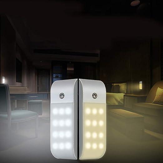 KOBWA Sensor de Movimiento Sensor de Movimiento Luz Nocturna para gabinete Inferior, Armario, despensa, mostrador, baño, Sala de Estar, Pasillo, Escalera (2PACK): Amazon.es: Hogar