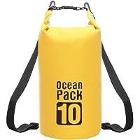 RFAIKA Mochila Hombre de Viaje Impermeable Portatil Hombre Mujer Bolsa de Cubo Bolsa Impermeable, Backpack Impermeable, Protector Iluvia Camara Reflex, For Rafting, Playa, Turismo