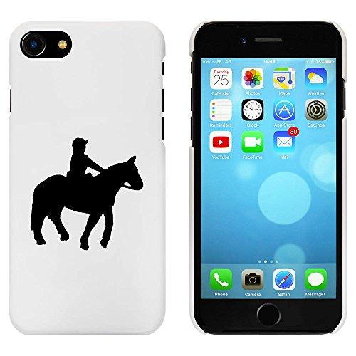 Blanc 'Équitation' étui / housse pour iPhone 7 (MC00066132)