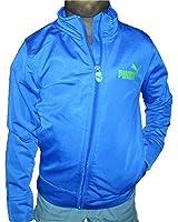 Puma Boy's Full Zip Track Jacket Royal Blue